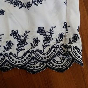 Charlotte Russe Tops - Charlotte Russe white floral off the shoulder top